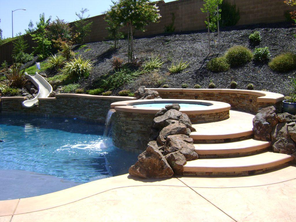 swimming pool landscaping escondido